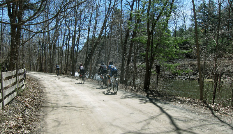 Riding along the Kinderhook Creek